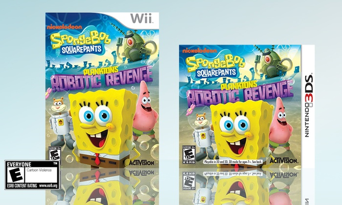 Spongebob Squarepants: Plankton's Robotic Revenge for 3DS or Wii: Spongebob Squarepants: Plankton's Robotic Revenge for 3DS or Wii. Free Returns.