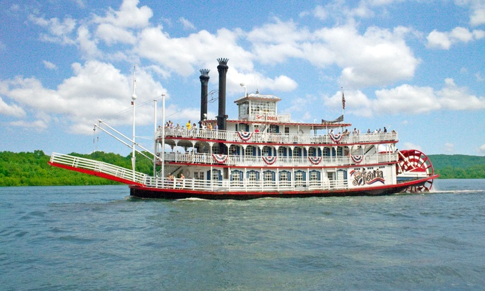 The Spirit of Peoria - Peoria: Riverboat Sightseeing Cruise or Overnight Excursion aboard The Spirit of Peoria (Up to 38% Off)