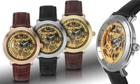 GROUPON: Louis Bolle Mechanical Skeleton Men's Watch Louis Bolle Mechanical Skeleton Men's Watch