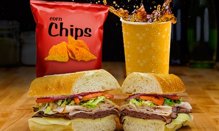 $8 for Two Medium Sub Sandwiches from Port of Subs ($12.78 Value)