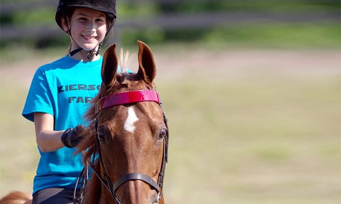 Kierson Farm - Kierson Farm: Two, Four, or Six Group Horseback-Riding Lessons Horat Kierson Farm (Up to 65% Off)