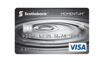 Get $50 Groupon Bucks Upon Approval of a Scotiabank Scotia Momentum No-Fee VISA Card