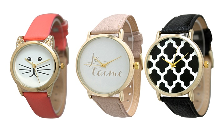 Women's Novelty Watches: Women's Novelty Watches. Multiple Styles Available from $9.99–$11.99.