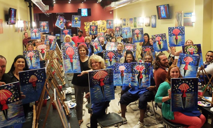 Pinot's Palette - Park Slope: Two- or Three-Hour Painting Class at Pinot's Palette (Up to 38% Off)