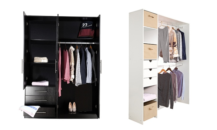 dressing ou armoire groupon shopping. Black Bedroom Furniture Sets. Home Design Ideas