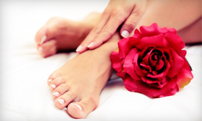 Mallory at marimarshe' salon - South Loop: $22 for a Spa Mani-Pedi from Mallory at marimarshe' salon ($50 Value)