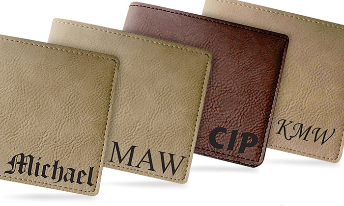 My Personal Memories: Personalized Leather Bifold Wallets from My Personal Memories (1, 2, or 5)