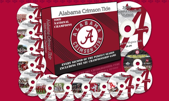 alabama crimson tide 2009 perfect season dvd box set groupon