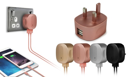 Coloured Plug with Optional Micro-USB Cable in Choice of Colour