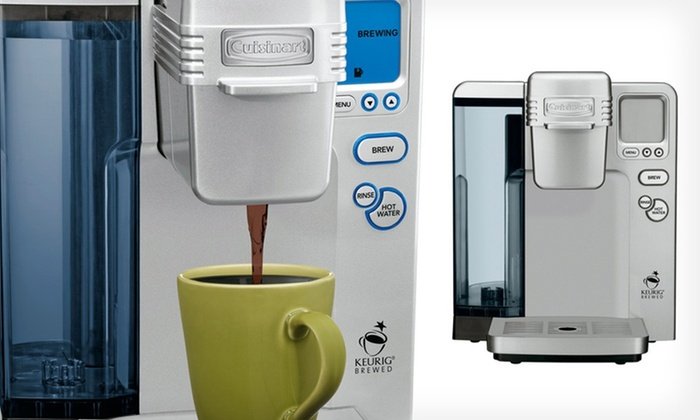 Cuisinart Single-Serve Coffee Maker: $98.99 for a Cuisinart Single-Serve Coffee Maker (Factory Refurbished) ($365 List Price). Free Shipping and Returns.