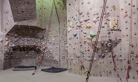 Rock Climbing Day Pass for Two or 10-Visit Package for One at Rock Gem Climbing Center (Up to 64% Off)