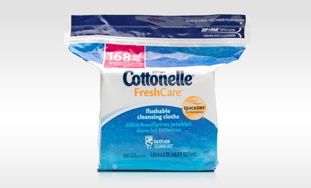 Cottonelle Fresh Care Flushable Moist Wipes; 8-Pack of 168ct. Boxes + 5% Back in Groupon Bucks