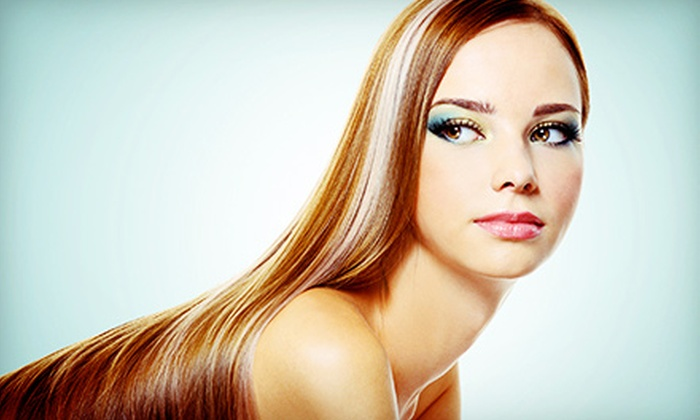 A'Foils Design - Houston: Haircut Package or a Keratin Complex Treatment at A'Foils Design (Up to 70% Off). Four Options Available.