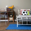 Soccer-Themed Twin Size Metal Bed Frame