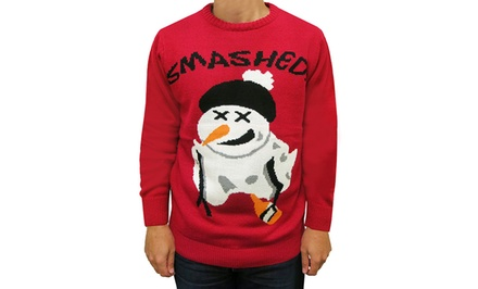 Men's Three Santas Ugly Christmas Sweaters (Size XL)