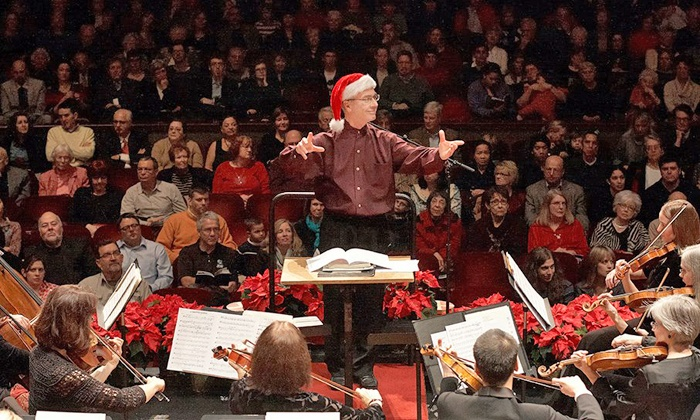 "Ann Arbor Symphony Orchestra presents ""Holiday Pops"" - Hill Auditorium: Ann Arbor Symphony Orchestra's Holiday Pops for Two at Hill Auditorium on Friday, December 13 (Up to 54% Off)"