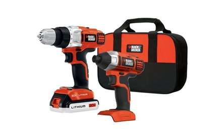 Black & Decker 20-Volt Drill and Driver Combo Kit (7-Piece)