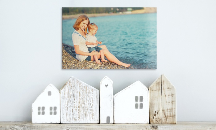 "12""x8"" or 16""x20"" Custom Gallery-Wrapped Canvas Prints from CanvasOnSale Starting at $6.99"