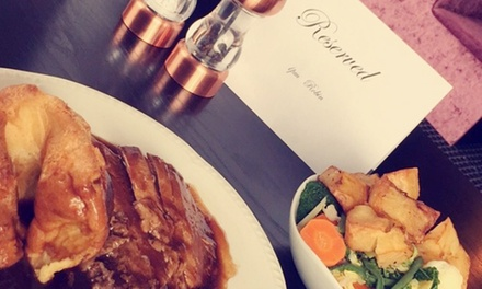 4* Sunday Lunch for Two at The Lobby at The Hillcarter Hotel