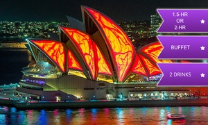 Afloat Cruises International: $25 for a Vivid Cruise with Buffet and Drinks with Vivid Afloat, Sydney Harbour (Up to $89 Value)