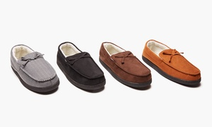 Oak & Rush Men's Moccasin Slippers   Groupon Exclusive