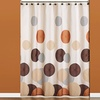 """70""""x72"""" Dots-and-Rings Fabric Shower Curtain"""