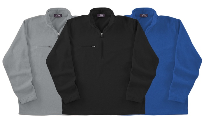 Vantage Men's Zip Fleece Jacket | Groupon Goods