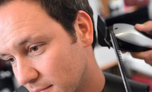 Fades By Crystal: One or Three Men's Haircuts with Hot Towels and Head Massages at Fades By Crystal (Up to 75% Off)