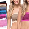 6-Pack of Women's Striped Padded Tube-Top Bras