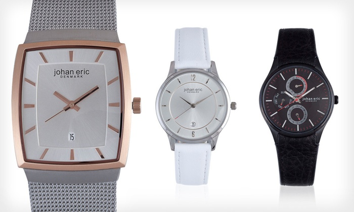 Men's and Women's Johan Eric Watches: Men's and Women's Johan Eric Watches (Up to 68% Off). 15 Styles Available. Free Shipping.