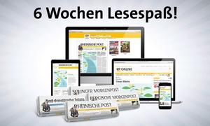 Rheinische Post: 6 Wochen Gedruckt- oder Digital-Abo der Rheinischen Post oder einer anderen regionalen Tageszeitung