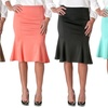 Riverberry Stretchy Flared Pencil Skirt