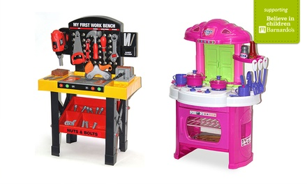 Kitchen or Tool Bench Role Play Toys for £17.99