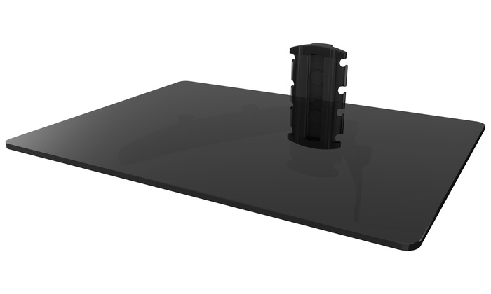 gforce single or double shelf wall mount for tv. Black Bedroom Furniture Sets. Home Design Ideas