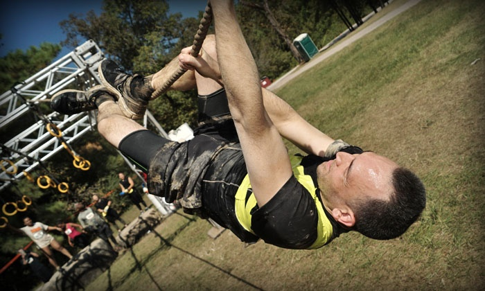 Mighty Mud Dash - Sam Houston Race Park: $45 for Mighty Mud Dash 5K Obstacle-Course Race on April 10 at 9 a.m. ($90 Value)