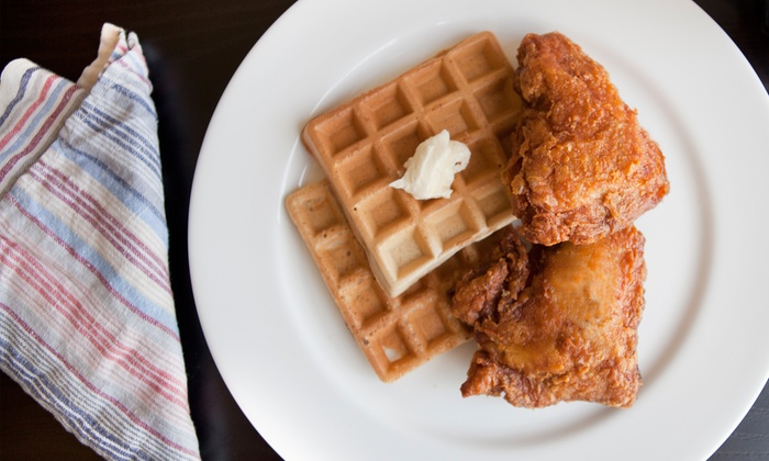 Home of Chicken and Waffles - Multiple Locations: Comfort Food at Home of Chicken and Waffles (Up to 40% Off)