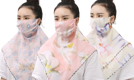 One or Two Floral Scarfs with Face Masks