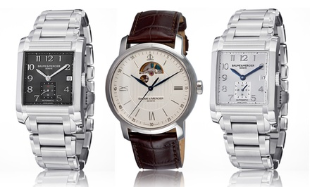 Baume and Mercier Men's Watch. Multiple Designs from $799.99–$1,759.99. Free Returns.