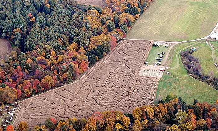 Rolling Acres - Rock Valley: All-Day Farm Visit for Two or Four with Corn Maze and Jumping Pillow Access at Rolling Acres (Up to 52% Off)