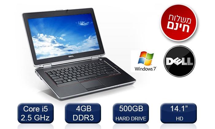 מחשב נייד Dell עם מסך 14.1, מעבד Core i5, דיסק קשיח 500GB, זיכרון 4/8GB ומערכת הפעלה win 7 ב-1399 ₪ בלבד. משלוח חינם