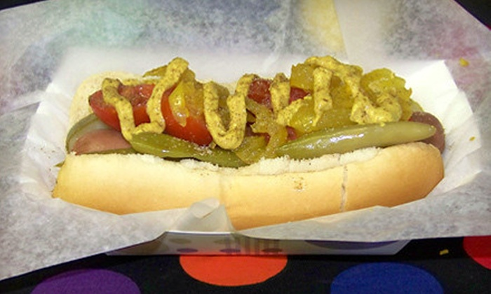 Dot'z Dawgs & Drafts - Central City: $5 for $10 Worth of Classic American Food or $34 for Party Package for Up to 10 at Dot'z Dawgs and Drafts