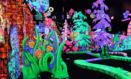 One Round of Glow-in-the-Dark Mini Golf for Two or Four at Putting Edge (Up to  54% Off)