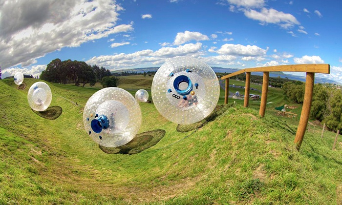 Outdoor Gravity Park - Pigeon Forge: Zorbing for One or Two at Outdoor Gravity Park (Up to 35% Off)