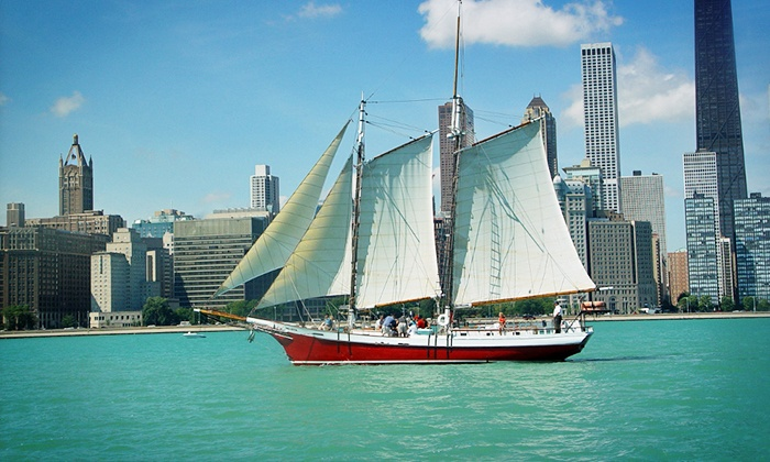 Tall Ship Red Witch - Kenosha Harbor: Sail on Chicago's Only Wooden Tall Ship, the Award-Winning Tall Ship Red Witch (Up to 59% Off). Three Options.