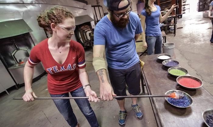 Glassblowing Class - West Dallas: Sculpt a Glass Flower in a Glassblowing Workshop