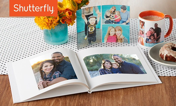 Shutterfly: 50% Off Custom Photo Products from Shutterfly. Four Options Available.