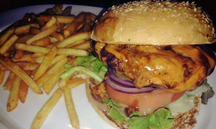 Tei Avon - Johannesburg: Gourmet Burger and Chips at Tei Avon (Up to 54% Off)