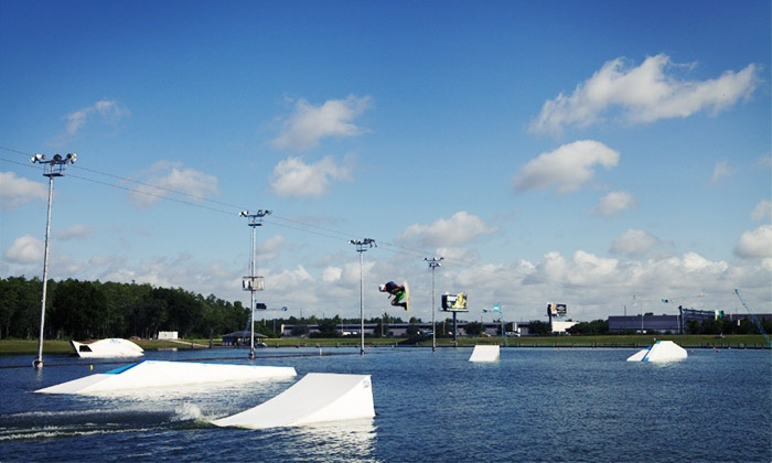 Orlando Cable Park - Orlando: Beginners' Wakeboard Lesson with 4-Hour Cable Pass for One or Two at Orlando Watersports Complex (Up to 44% Off)