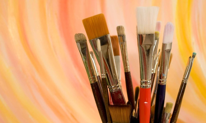 Art Classes by Jen and Mark - Forest Park: Wineglass-Painting Class for One or Two at Art Classes by Jen and Mark (Up to 56% Off)