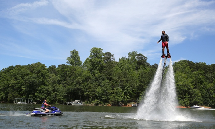 Lake Lanier Flyboard - Flowery Branch: 30-Minute Flyboarding Session with GoPro Video Package for One or Two at Lake Lanier Flyboard (Up to 45% Off)